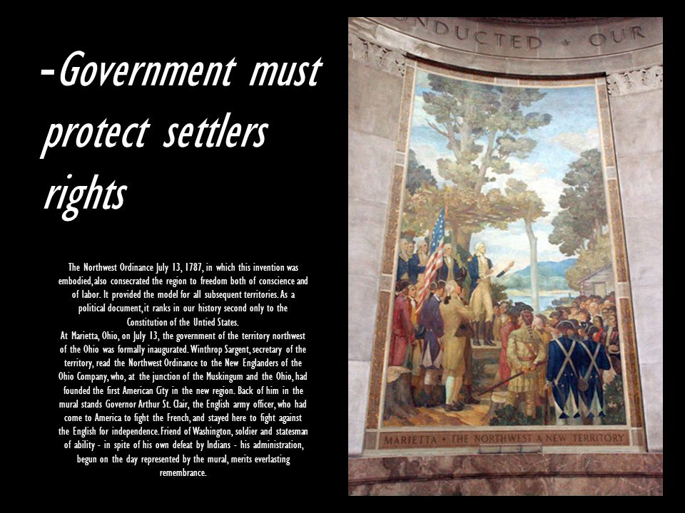 Government must protect settlers rights