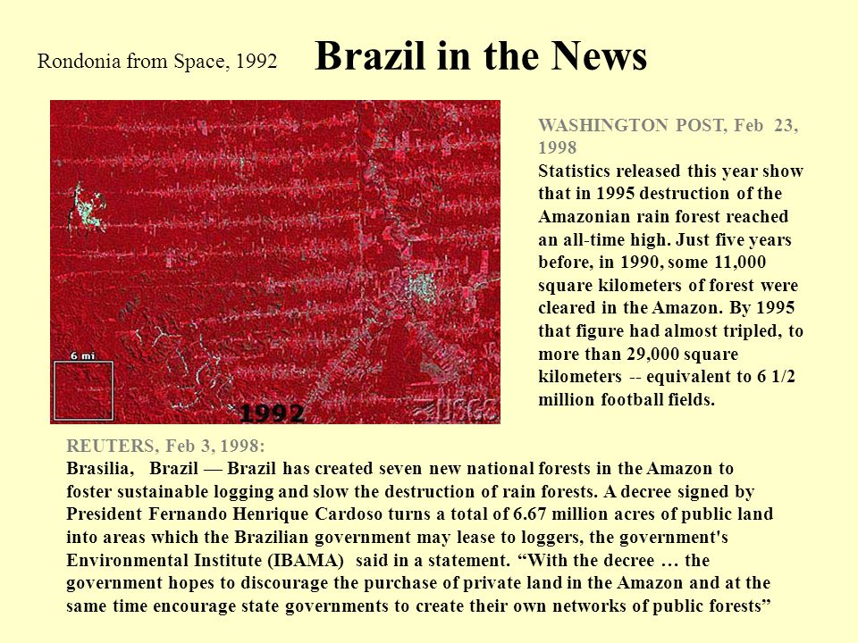 Brazil in the News Rondonia from Space, 1992