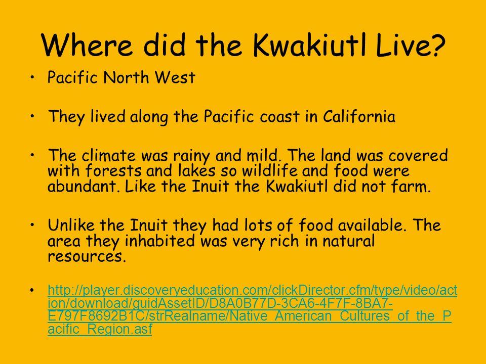 Where did the Kwakiutl Live