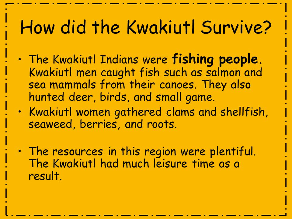 How did the Kwakiutl Survive