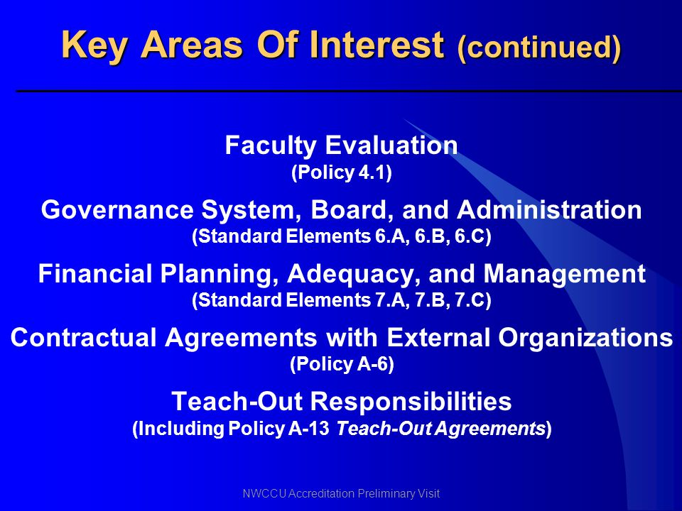 Key Areas Of Interest (continued)
