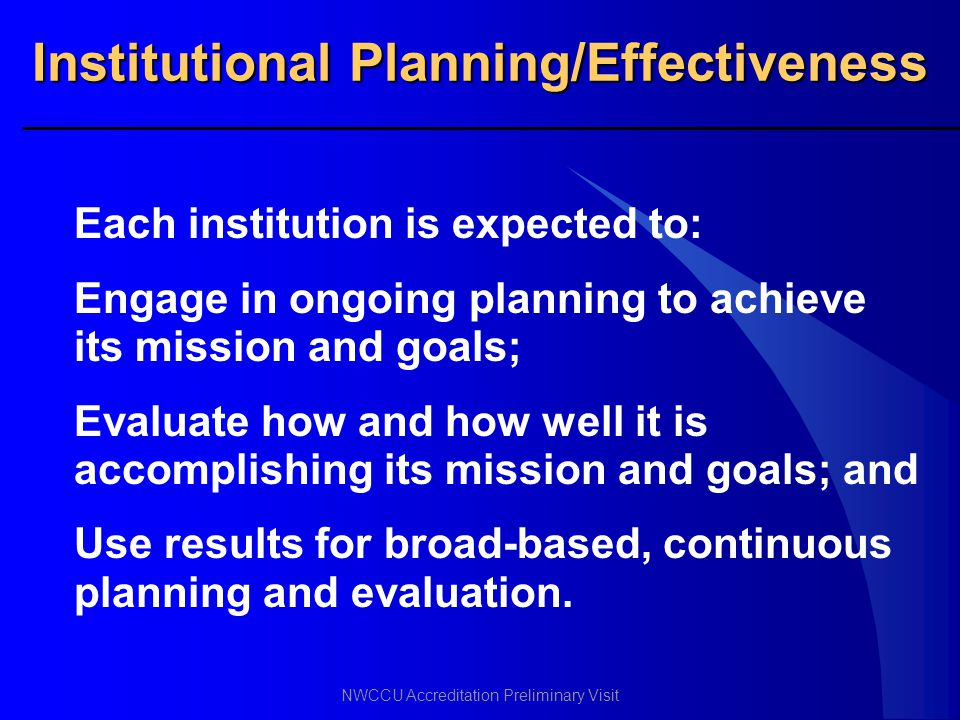 Institutional Planning/Effectiveness