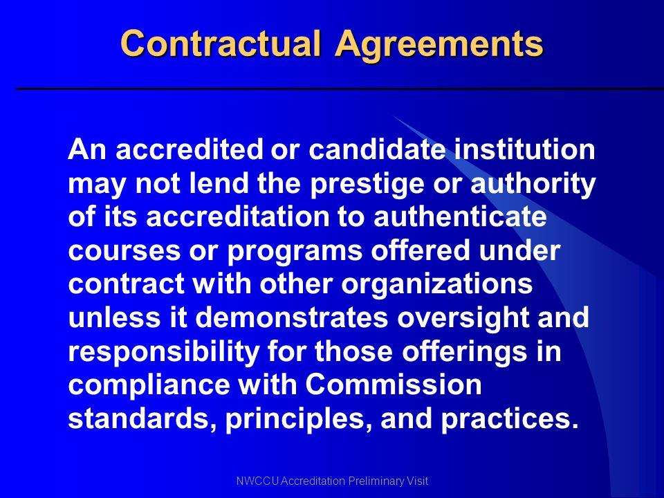 Contractual Agreements