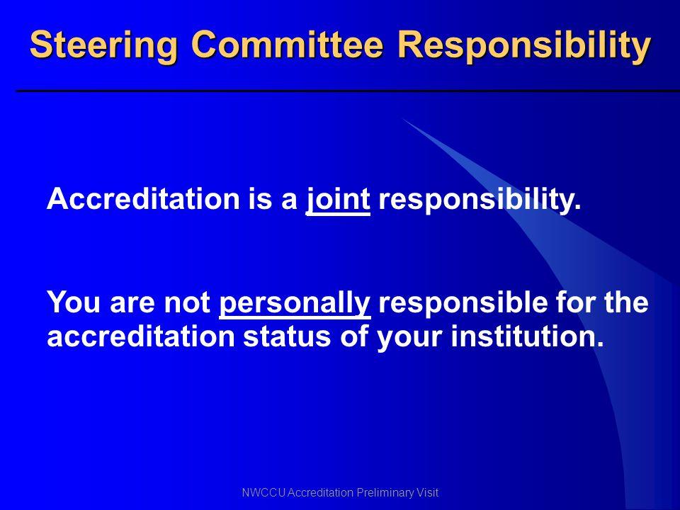 Steering Committee Responsibility