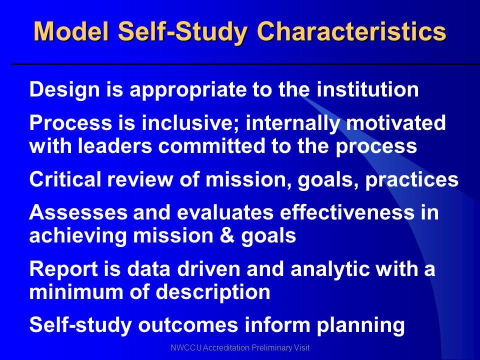 Model Self-Study Characteristics