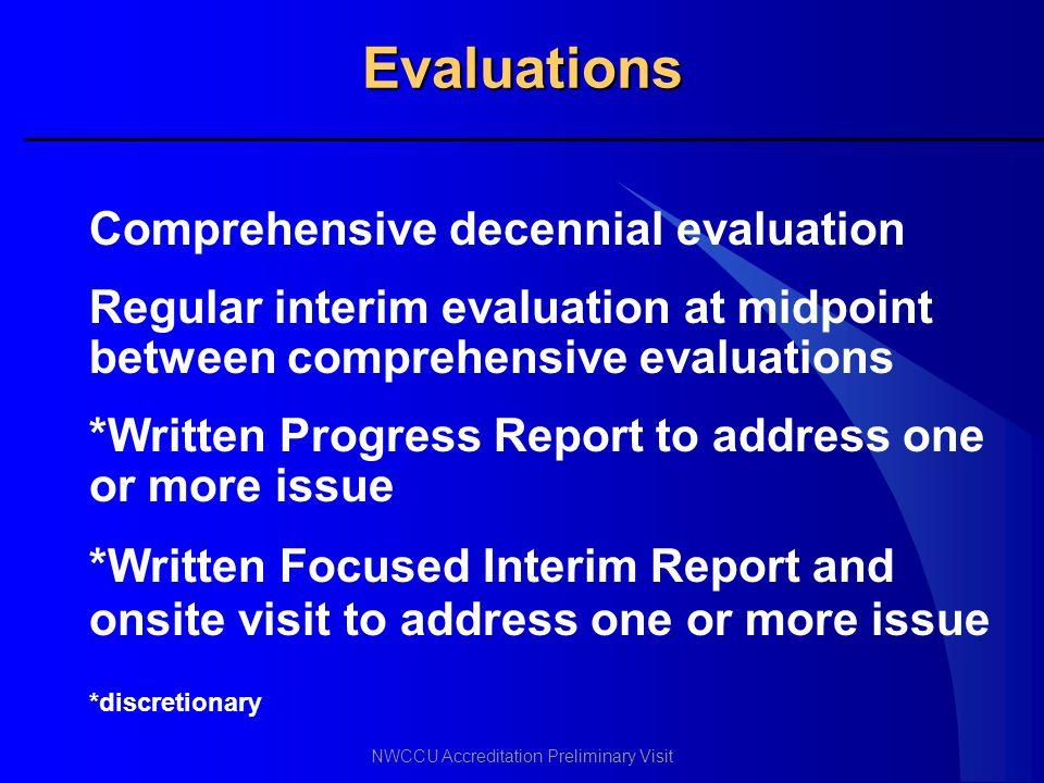 Evaluations Comprehensive decennial evaluation