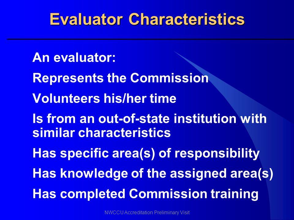 Evaluator Characteristics