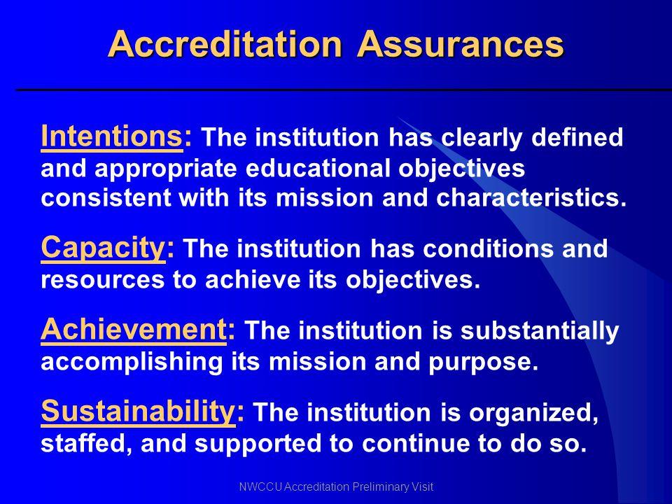 Accreditation Assurances