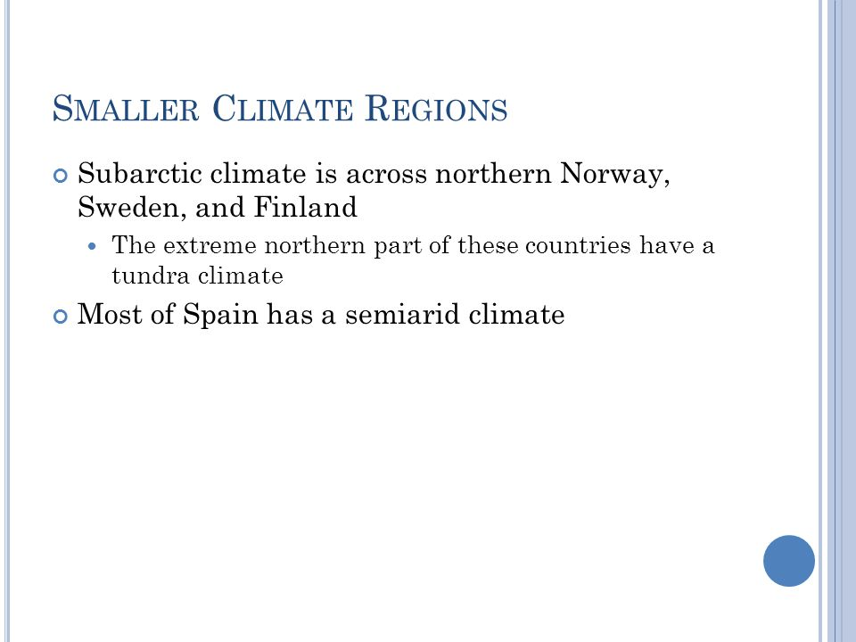 Smaller Climate Regions