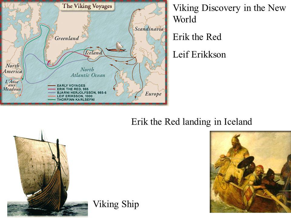 Erik the Red landing in Iceland