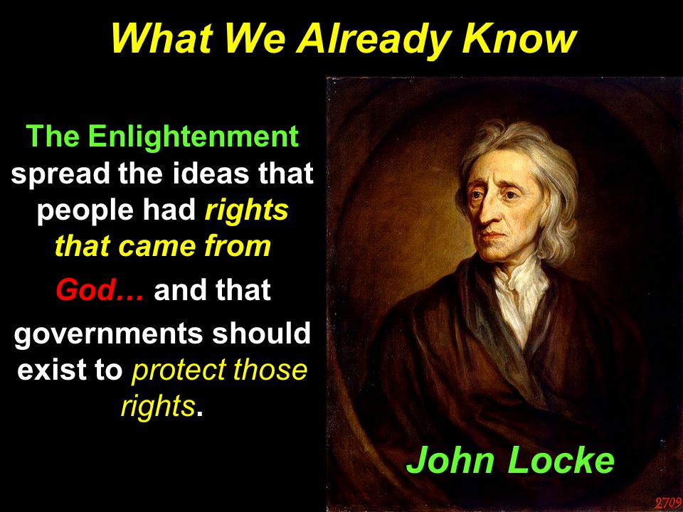 governments should exist to protect those rights.
