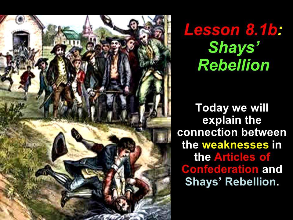 Lesson 8.1b: Shays' Rebellion