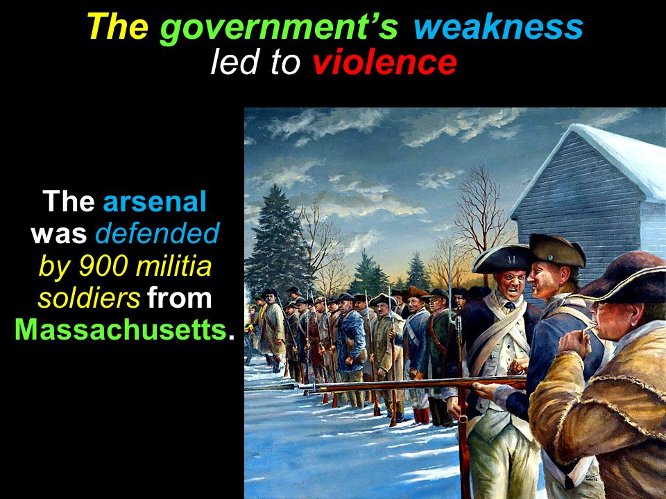 The government's weakness led to violence