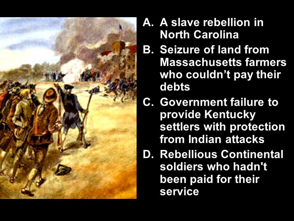 A slave rebellion in North Carolina