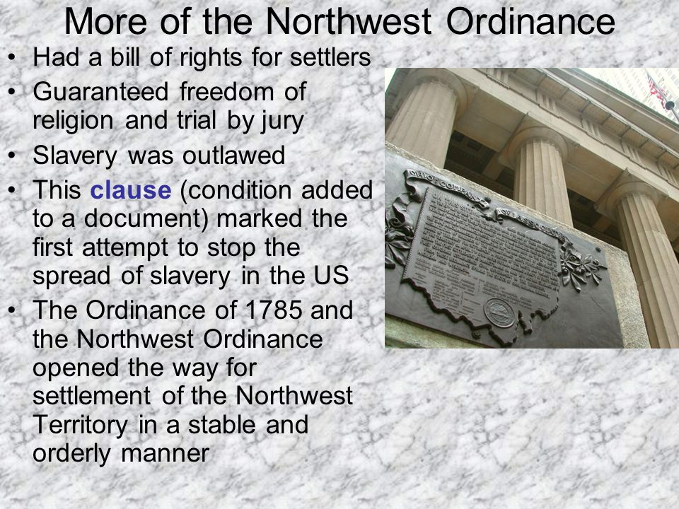 More of the Northwest Ordinance