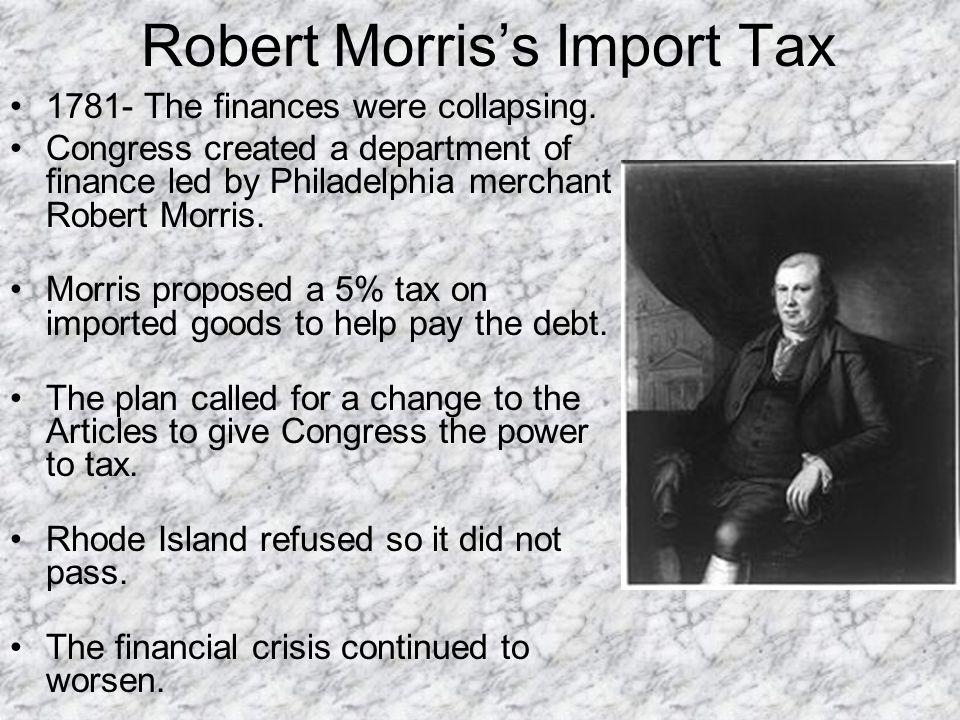 Robert Morris's Import Tax