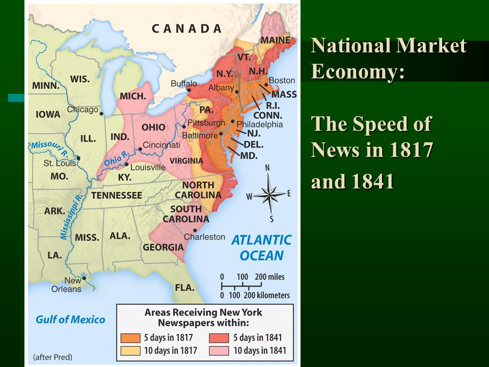 National Market Economy: The Speed of News in 1817 and 1841