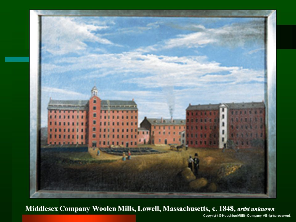 Middlesex Company Woolen Mills, Lowell, Massachusetts, c