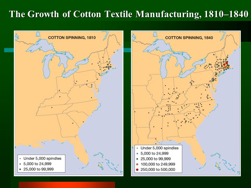 The Growth of Cotton Textile Manufacturing, 1810–1840