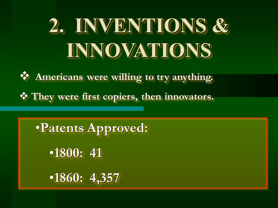 2. INVENTIONS & INNOVATIONS