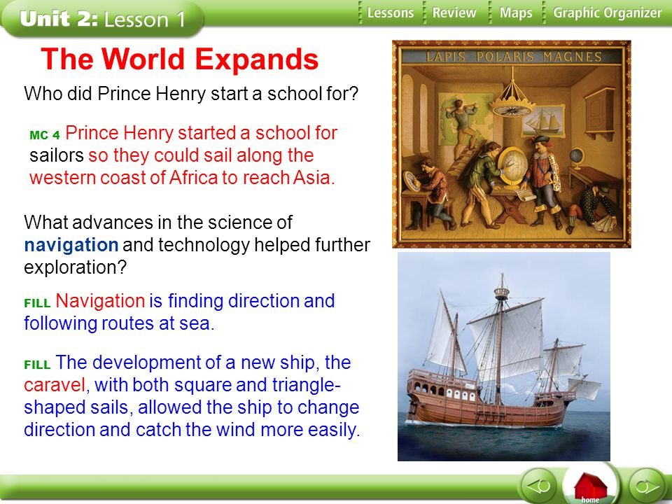 The World Expands Who did Prince Henry start a school for