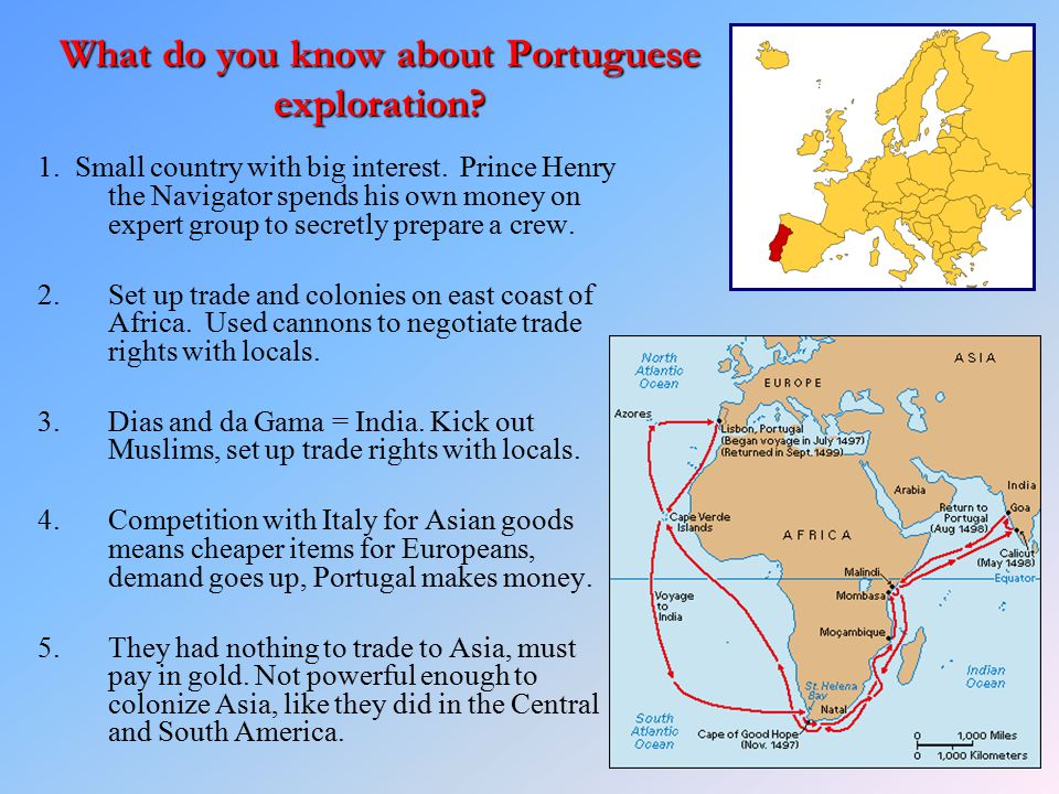 What do you know about Portuguese exploration