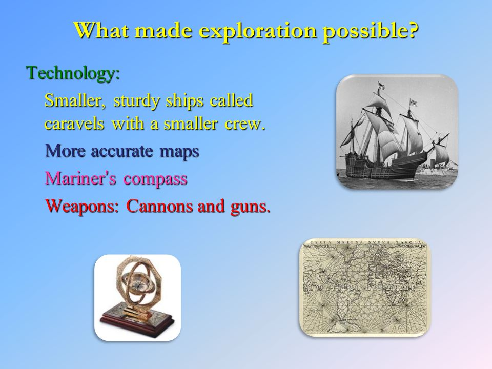 What made exploration possible