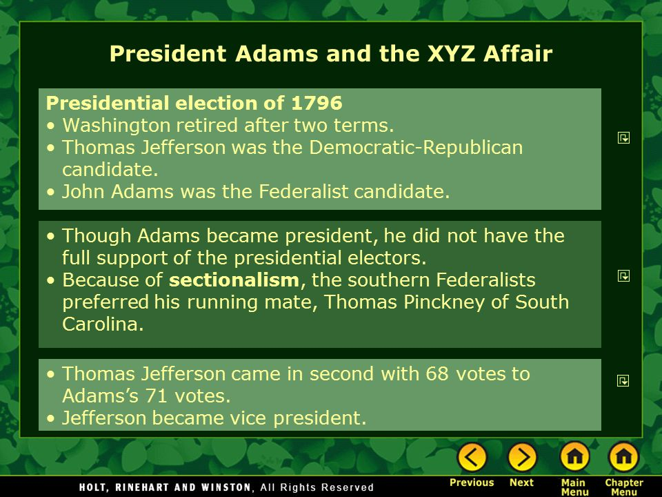 President Adams and the XYZ Affair