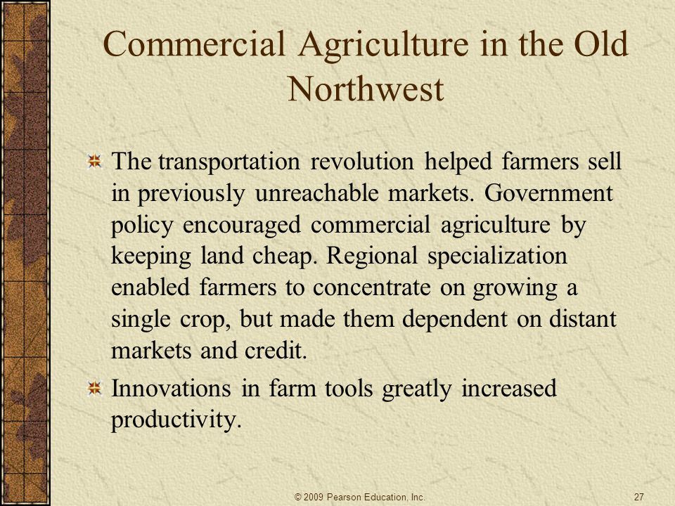 Commercial Agriculture in the Old Northwest