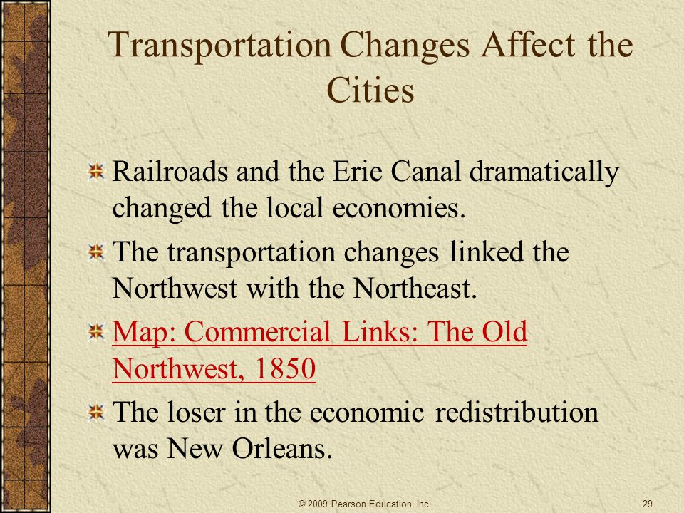 Transportation Changes Affect the Cities