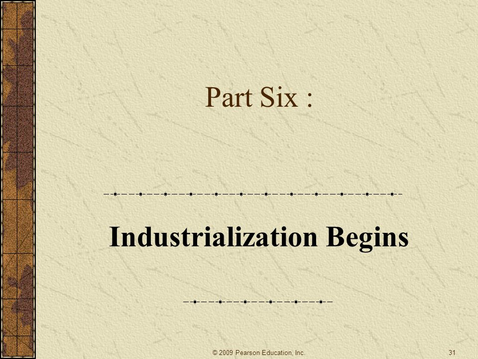 Industrialization Begins