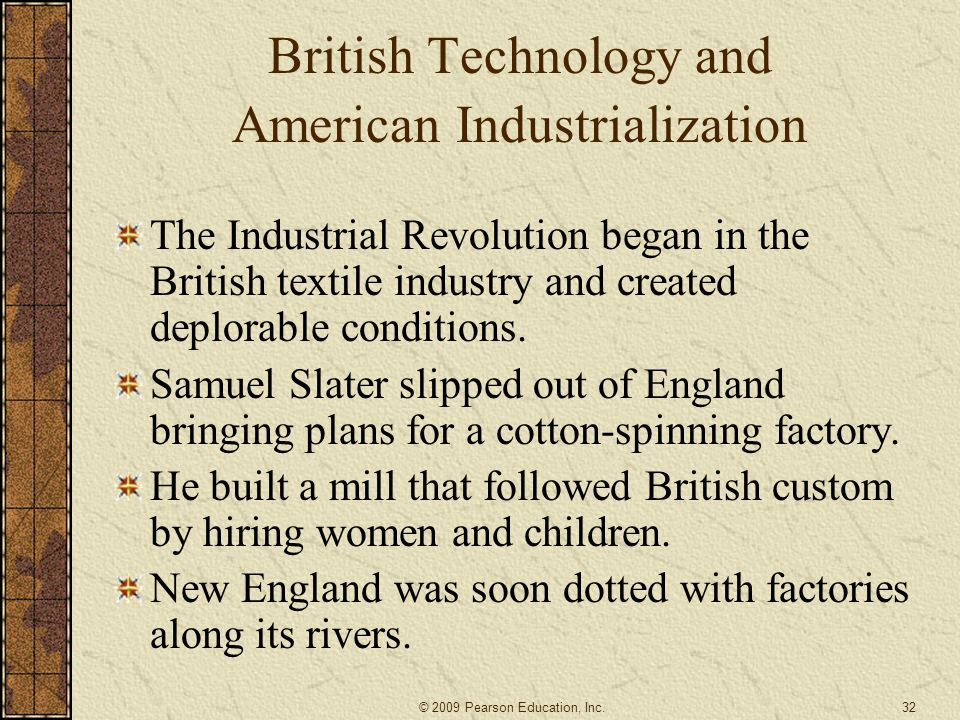 British Technology and American Industrialization