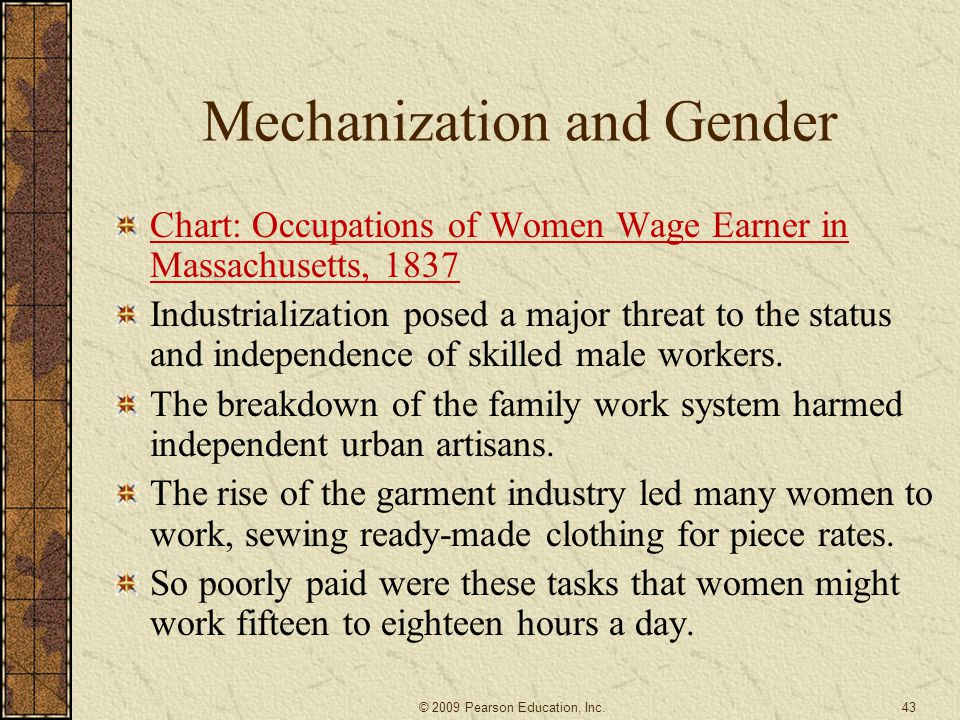 Mechanization and Gender