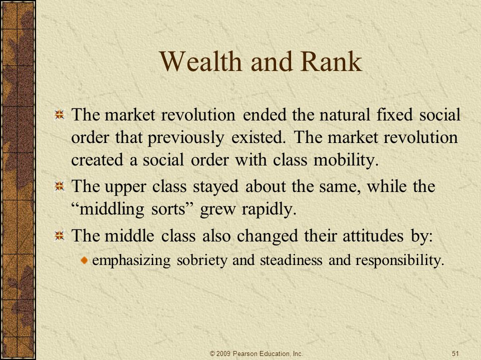 Wealth and Rank