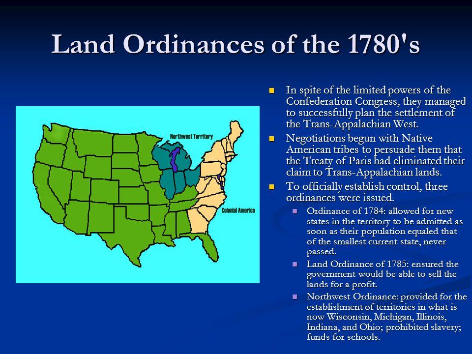 Land Ordinances of the 1780 s
