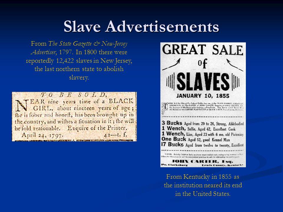 Slave Advertisements
