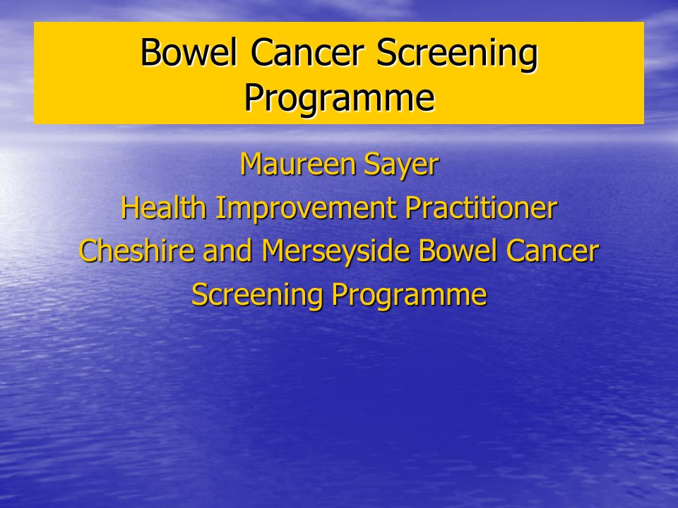 Bowel Cancer Screening Programme