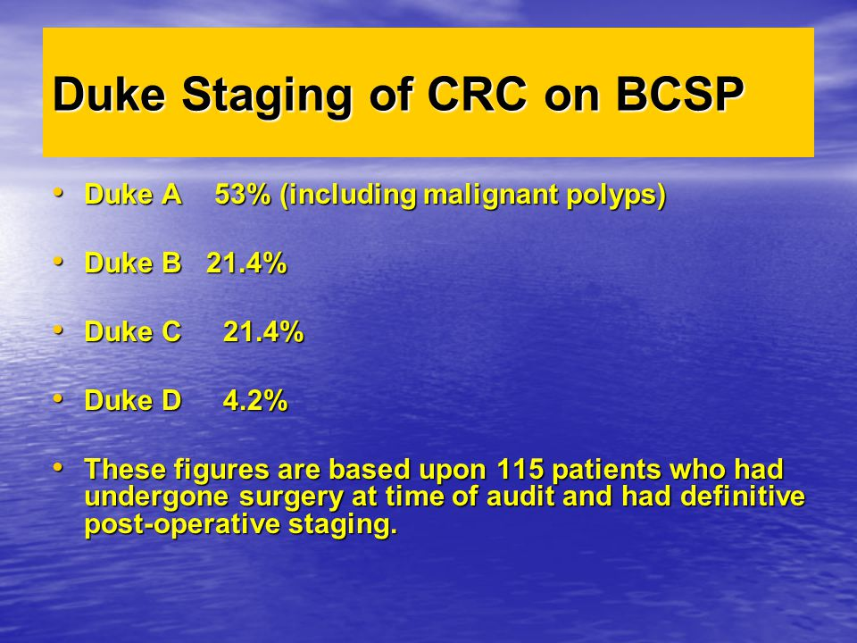 Duke Staging of CRC on BCSP