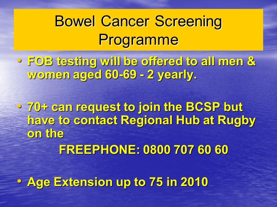 Bowel Cancer Screening Programme
