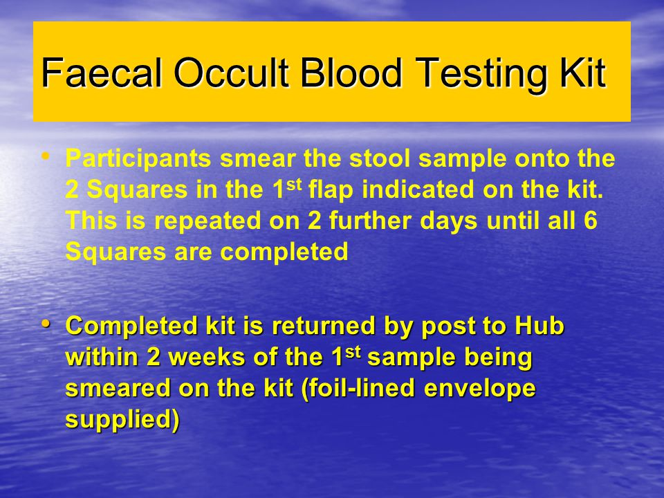Faecal Occult Blood Testing Kit
