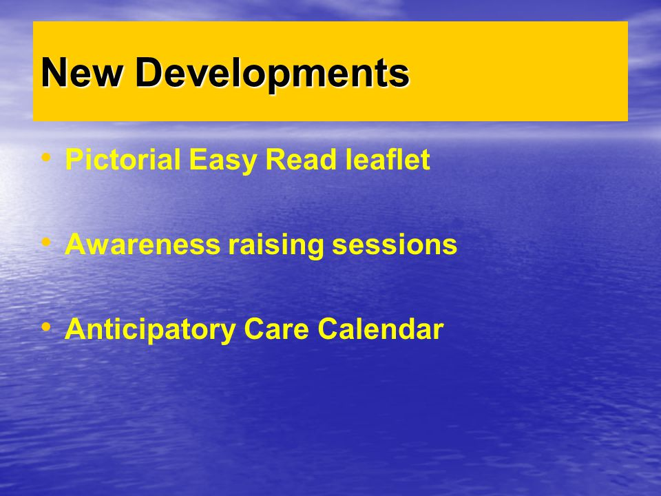 New Developments Pictorial Easy Read leaflet