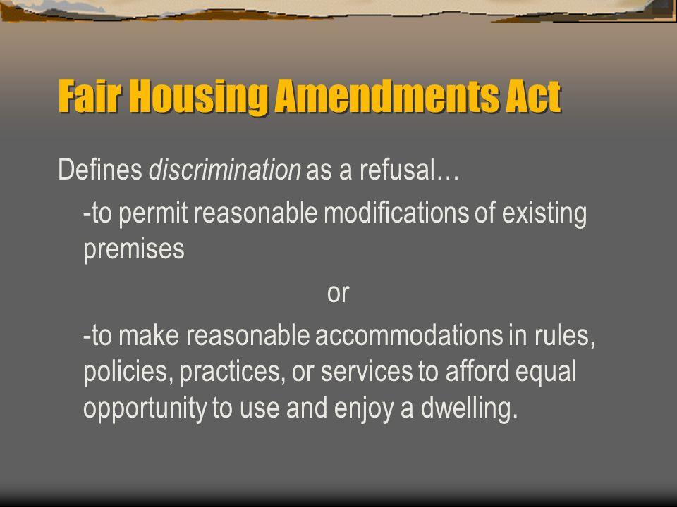 Fair Housing Amendments Act