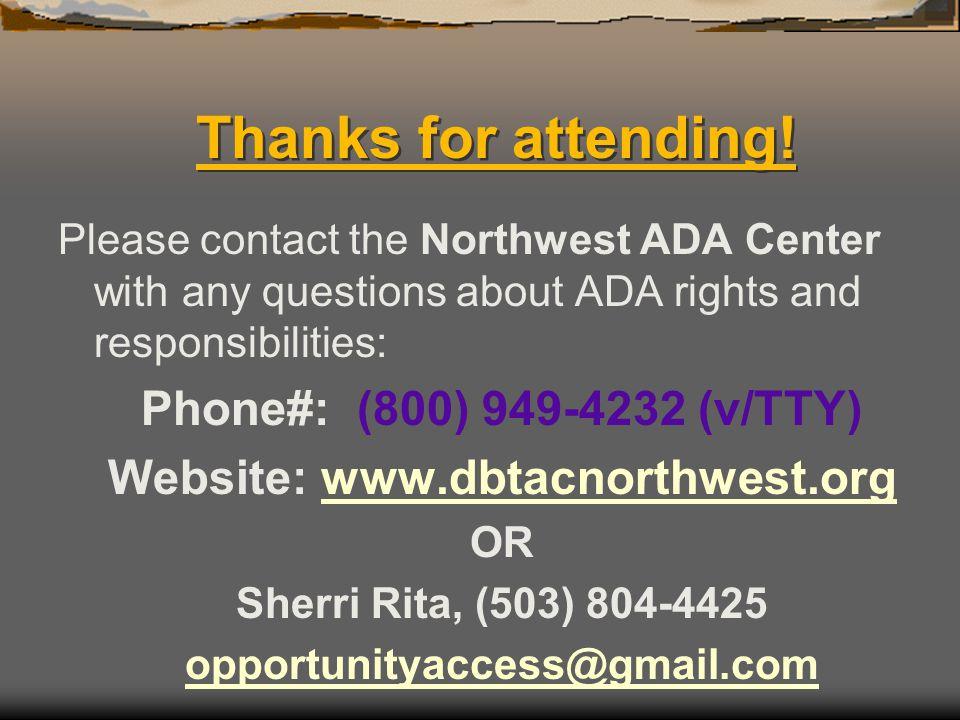 Website: www.dbtacnorthwest.org