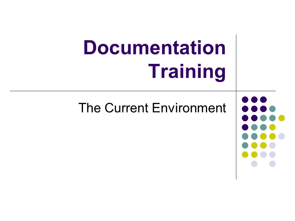 Documentation Training