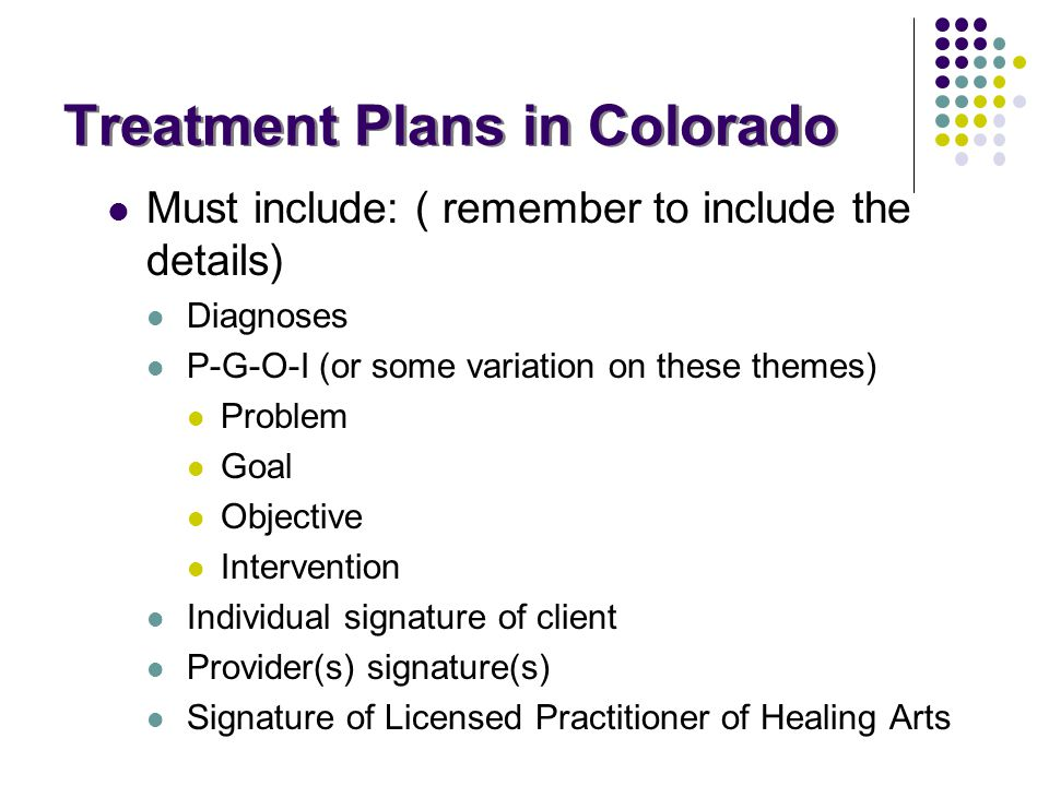 Treatment Plans in Colorado