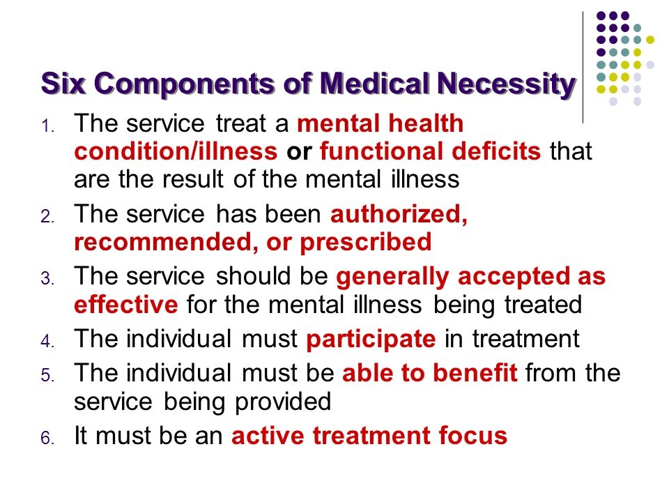 Six Components of Medical Necessity