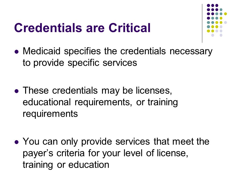 Credentials are Critical