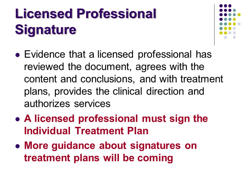 Licensed Professional Signature