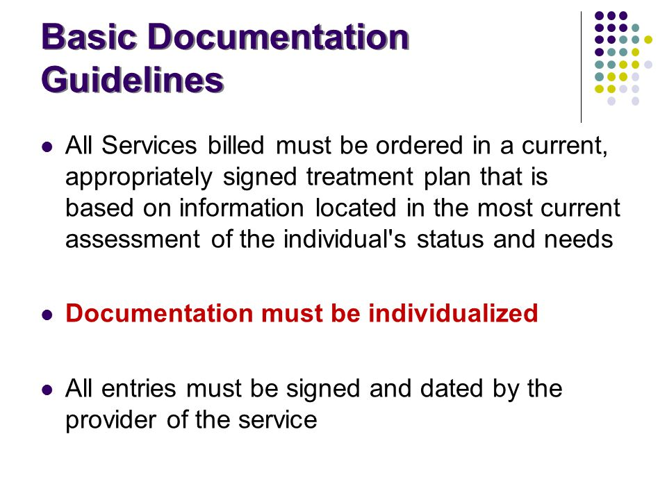 Basic Documentation Guidelines