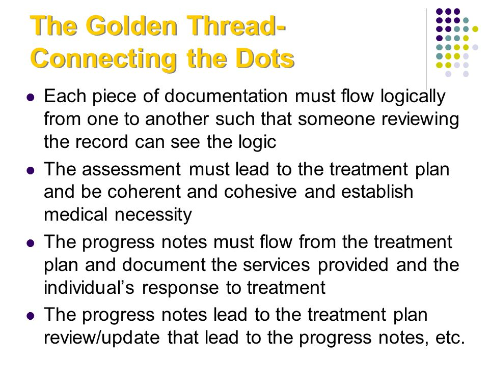 The Golden Thread-Connecting the Dots